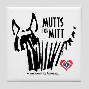 Yorkie Mutts for Mitt Tile Coaster