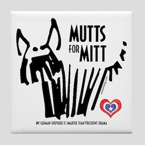 German Shepherd Mutts for Mitt Tile Coaster