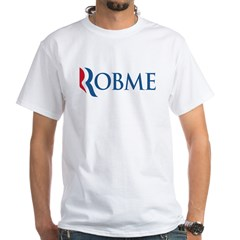 Anti-Romney Robme White T-Shirt