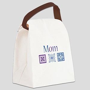 Mom Quilt Blocks Canvas Lunch Bag