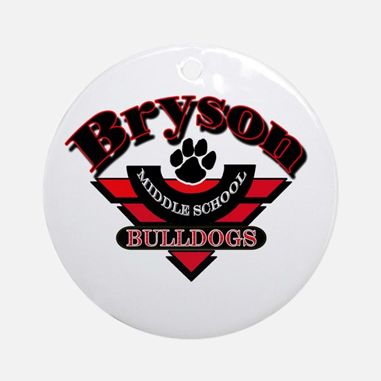 Bryson MS Bulldogs Ornament (Round)