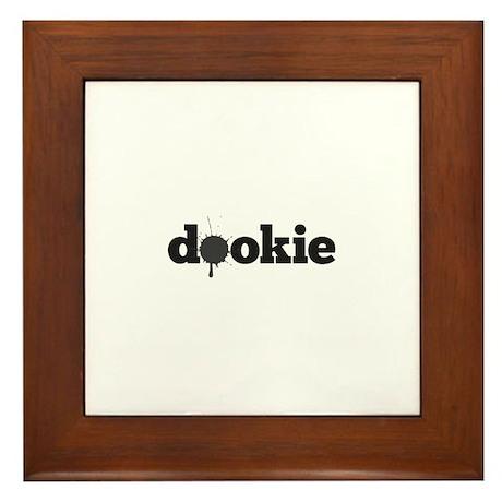 Dookie Splash Grey Framed Tile