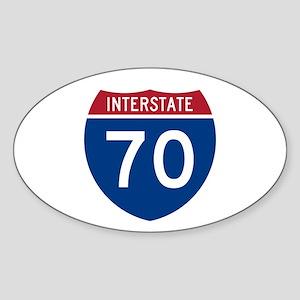 Interstate 70 Oval Sticker