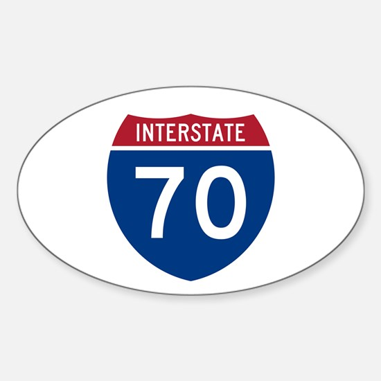 Interstate 70 Oval Decal