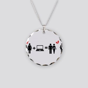 Cheater Necklace Circle Charm