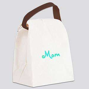 Mom Blue Canvas Lunch Bag