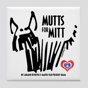 Labrador Retriever Mutts for Mitts Tile Coaster