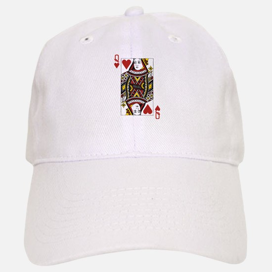 Queen of Hearts Baseball Baseball Cap