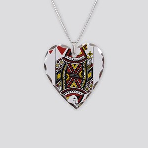 Queen of Hearts Necklace Heart Charm