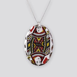 Queen of Hearts Necklace Oval Charm