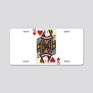 Queen of Hearts Aluminum License Plate
