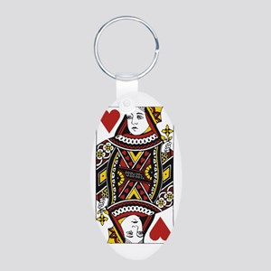 Queen of Hearts Aluminum Oval Keychain