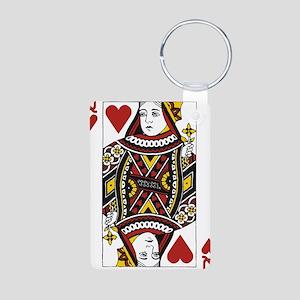Queen of Hearts Aluminum Photo Keychain