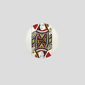 Queen of Hearts Mini Button