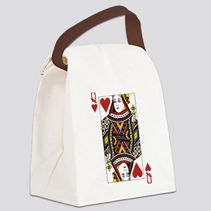 Queen of Hearts Canvas Lunch Bag