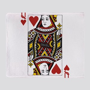 Queen of Hearts Throw Blanket