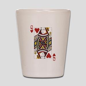 Queen of Hearts Shot Glass