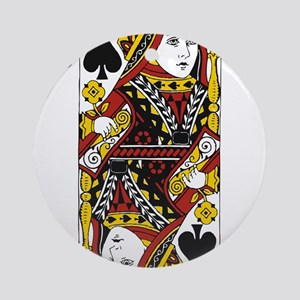 Queen of Spades Ornament (Round)