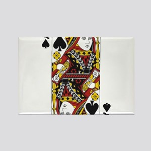 Queen of Spades Rectangle Magnet