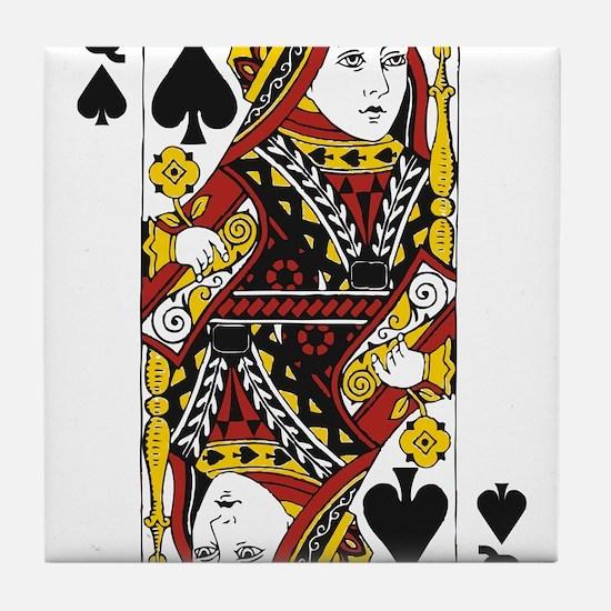 Queen of Spades Tile Coaster