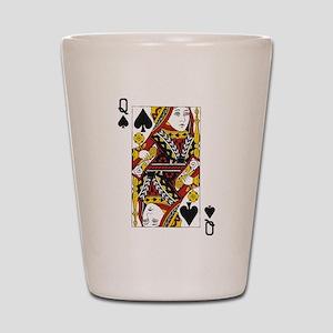 Queen of Spades Shot Glass