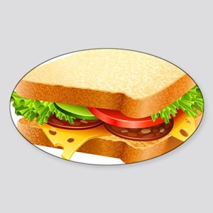 Sandwich Sticker (Oval)