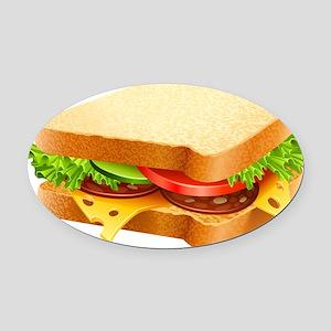 Sandwich Oval Car Magnet