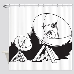 Satellites Shower Curtain