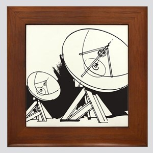 Satellites Framed Tile
