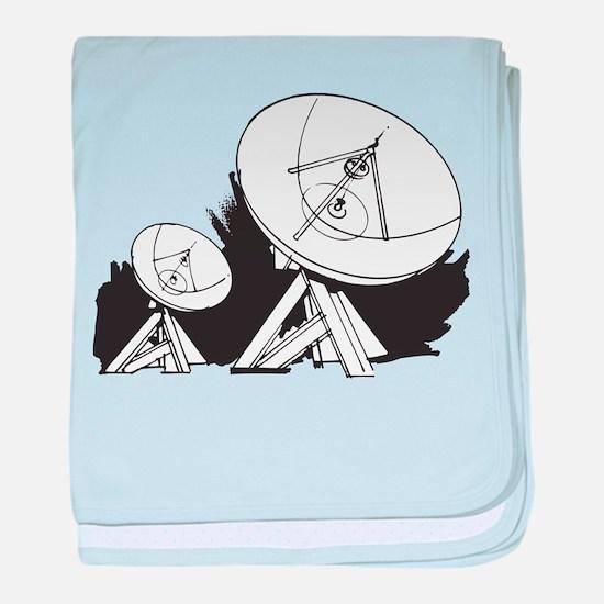 Satellites baby blanket