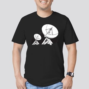 Satellites Men's Fitted T-Shirt (dark)