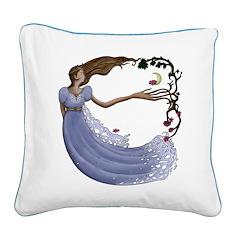 The Princess Square Canvas Pillow