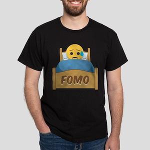 Emoji Sad FOMO Dark T-Shirt