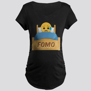 Emoji Sad FOMO Maternity Dark T-Shirt