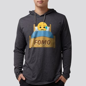 Emoji Sad FOMO Mens Hooded Shirt