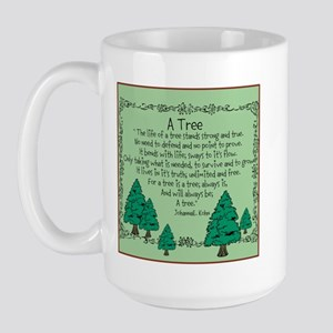 Original Poetry, A Tree, Large Mug