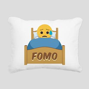 Emoji Sad FOMO Rectangular Canvas Pillow