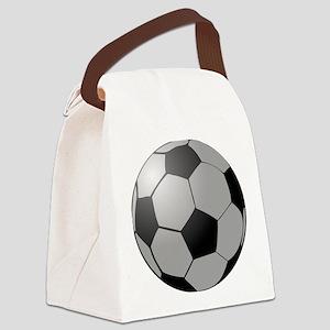 Soccer Ball Canvas Lunch Bag