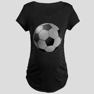 Soccer Ball Maternity Dark T-Shirt