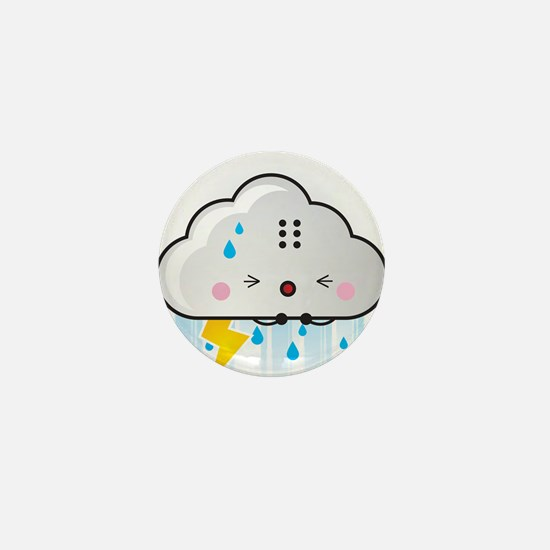 Kawaii Rain Cloud Mini Button