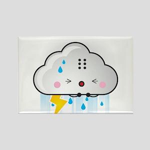 Kawaii Rain Cloud Rectangle Magnet