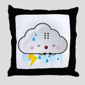 Kawaii Rain Cloud Throw Pillow