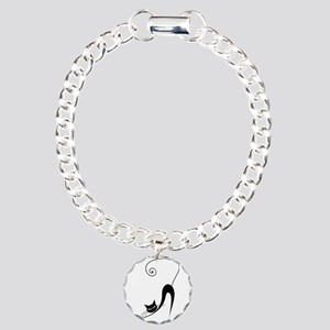 Black Cat Charm Bracelet, One Charm