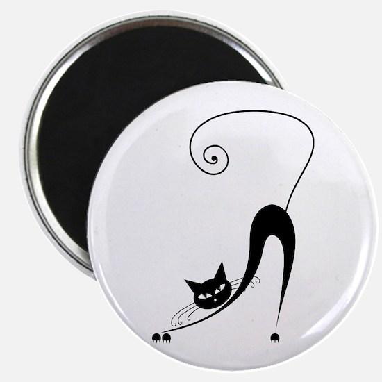 "Black Cat 2.25"" Magnet (10 pack)"