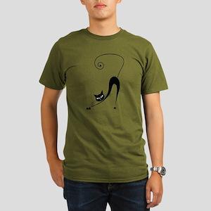 Black Cat Organic Men's T-Shirt (dark)