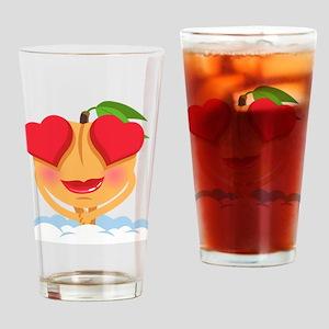 Emoji Heart Eyes Drinking Glass