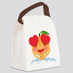 Emoji Heart Eyes Canvas Lunch Bag