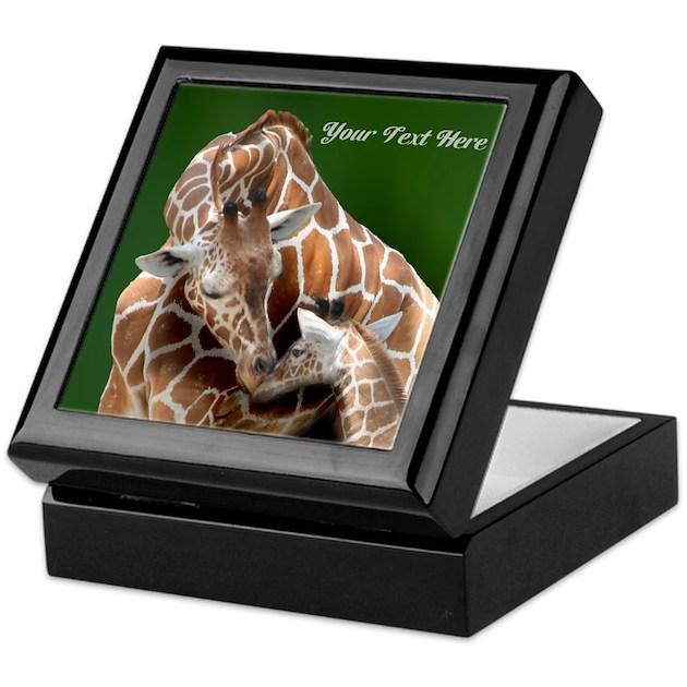 Giraffe Mom And Baby Keepsake Box By Naturessol