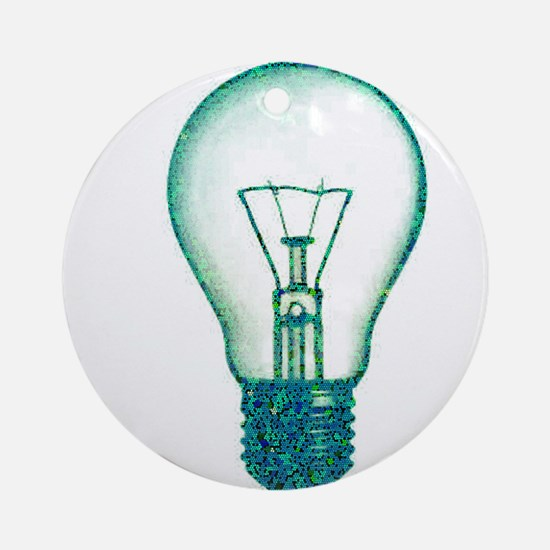 light bulb lamp pixel Ornament (Round)