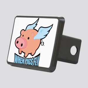 When Pigs Fly Rectangular Hitch Cover